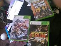 Black Xbox 360 with 3 games like brand new
