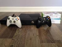 XBOX 360 + 2 Wireless Controllers + 9 Games.  CONSISTED
