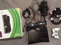 I'm selling a xbox 360 250 gb for 150. In great
