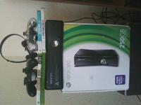 this xbox is 250 gb comes with 4 games. brink cod