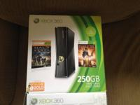 Xbox 360 250gb  Includes: two controllers, power/tv