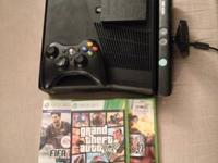 XBox 360 4GB + 320GB Comes with several games