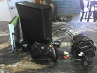 I have a Xbox 360 4 GB with 2 games, plug and play for