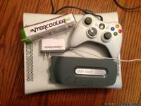 **White Xbox 360 with:--$120 1 controller. intercooler