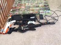 120 GB Xbox 360 with Kinect, three remotes and 56