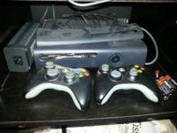 xbox 360 black elite 120g hard drive few games and 2