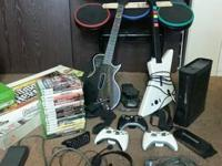 Great condition, used, XBOX 360, 120gb hdd, drum set, 2