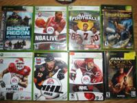 If interested at 237-1556, XBox 360 games 20.00 for all