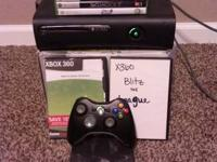 Xbox 360 elite with 22 games controller and all cords