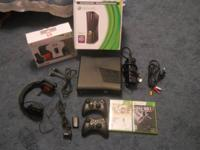 Xbox 360 250gb-all cords, wifi ready, kinect ready 2