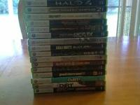 NFS hot pursuit-$25 Halo 4-$25 COD MW2-$15 COD MW3-$25