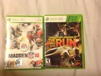 I have 9 xbox 360 games in good conditions.  Saints row