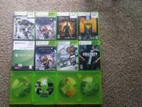 12 Xbox 360 Games $8 EACH NO SCRATCHES ON THE DISCS 1.