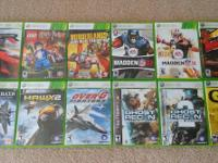 "Selling a few of my Xbox 360 games. All in ""Like New"""