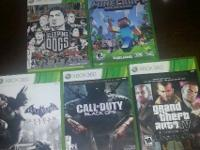 All games in very good condition.   Minecraft $15