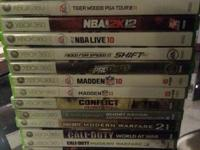 I have several XBOX 360 games for sale. Buy all or