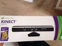 Xbox 360 Kinect with game. Brand new but box opened.