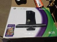 XBOX 360 4GB Kinect 2 controllers and gun 13 games: