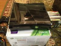 XBox 360 250gb (Complete in box) W/ Kinect (complete in