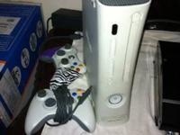 Xbox 360 with 2 controller one wired one wireless,