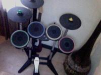 We have a lightly used xbox 360 rock band pro drum set