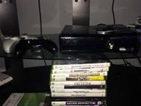 Xbox 360 console for sale. Slim, 250GB. Consists of 2