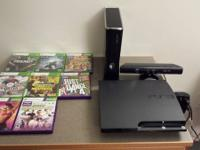 250 gb Xbox 360 Slim with Kinect Sensor,everything