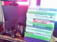 Xbox 360 slim 4 GB with connect all cords included with