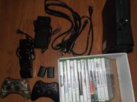 We have an Xbox 360 slim 4GB for sale. It includes 13