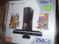 xbox 360 w/kinect brand new still in box never opened