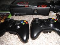 xbox 360 in perfect condition with kinect sensor and 2