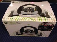 For sale is a wireless driving wheel for xbox 360. The