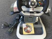 XBOX 360 Wireless Racing Wheel Force Feedback & Pedal