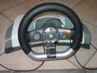Xbox 360 Wireless Steering Wheel asking $65.00 can be