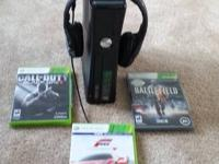 Xbox 360 250gb, like new, call of duty black ops 2,