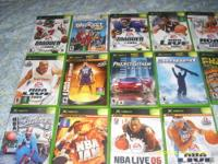 XBOX Game Assortments: NBA Inside Drive 2004; NBA Jam;
