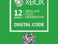 XBox Live 12 Month Gold Membership Enjoy All XBox Live