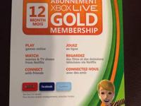 I've got an Xbox live gold card for one year, I got it