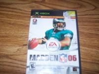 WE HAVE FOR SALE (1) XBOX MADDEN NFL 06 GAME FOR SALE.