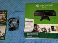New condition Xbox one 1 tb. Comes with 2 games . and