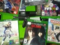 Xbox one, 5 GAMES, RAPID CHARGER, HEADSET AND 3