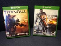 XBOX ONE games. Perfect condition with case, no