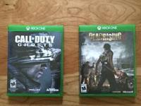"I have for sale 2 Xbox one games that are in ""like"