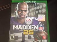 Xbox One Game  Madden 25  Used. Great Condition.   No