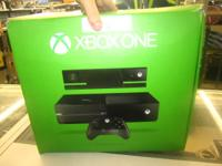 Xbox One console with Kinect, controller, controller