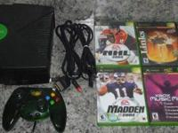 Up for sale is a Xbox System comes with 2 controllers 6