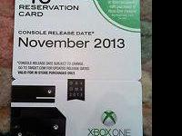 I have an Xbox One Reservation card which guarantees