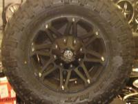 XD778 MONSTER MATTE BLACK OFFROAD RIMS, SPLIT 6 SPOKE