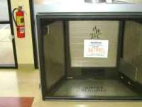 "54"" wide Town and Country direct vent firebox. Largest"