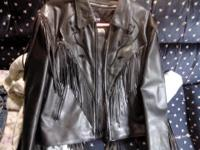 i have this leather jacket it has flower designs on it
